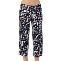 Ellen Tracy Womens Floral Print Cropped Pajama Pants