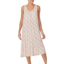 Womens Print Midi Nightgown