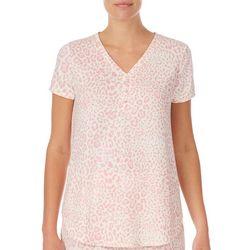 Ellen Tracy Womens 2-pc. Animal Print Pajama Set