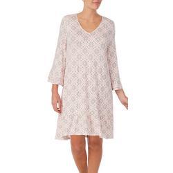 Womens Print 3/4 Sleeve Nightgown