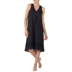 Ellen Tracy Womens Polka Dot Print Sleeveless Nightgown