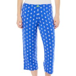 Ellen Tracy Womens Pineapple Cropped Pajama Pants