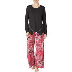 Ellen Tracy Womens Paisley Palazzo Pajama Pants Set