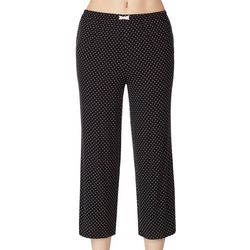 Ellen Tracy Womens Dot Print Cropped Pajama Pants