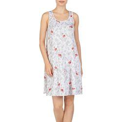 Ellen Tracy Womens Flamingo Palm Sleeveless Nightgown