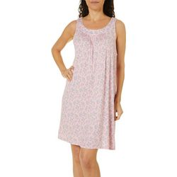 Company Ellen Tracy Womens Ditsy Floral Print Nightgown