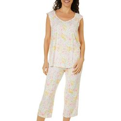 Ellen Tracy Womens Tropical Floral Pajama Set