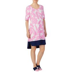 Ellen Tracy Womens Banana Leaf Nightgown & Socks