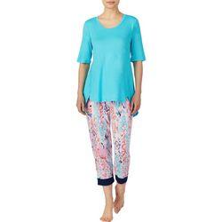 Ellen Tracy Womens Ikat Print Pajama Capris Set