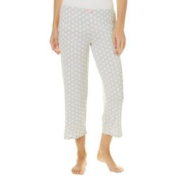 Ellen Tracy Womens Damask Cropped Pajama Pants