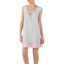 Ellen Tracy Womens Medallion Flutter Nightgown