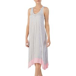 Ellen Tracy Womens Medallion Midi Sharkbite Nightgown