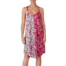 Layla Womens Floral Print Racerback Midi Nightgown