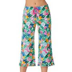 Layla Womens Tropical Fruit Cropped Pajama Capris