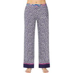 Layla Womens Ditsy Daisy Contrast Hem Pajama Pants