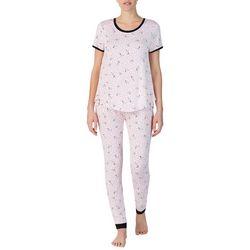 Layla Womens Dalmation Print Pajama Pants Set
