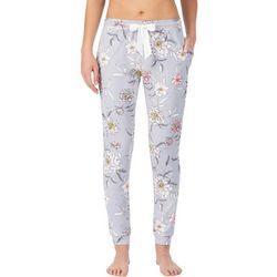 Layla Womens Floral Print Jogger Pajama Pants