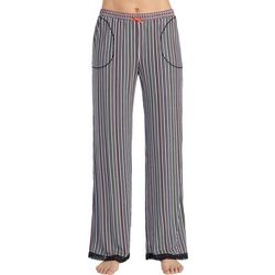 Layla Womens Striped Wide Leg Pajama Pants