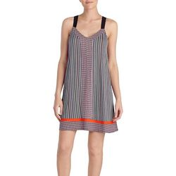 Layla Womens Striped Chemise Nightgown