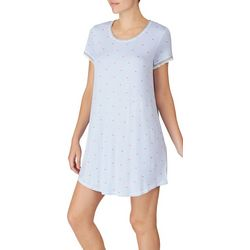 Layla Womens Stripes And Hearts Nightgown