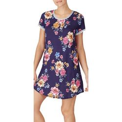 Layla Womens Floral Sleepshirt Nightgown