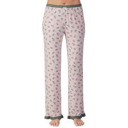 Layla Womens Puppy Love Wide Leg Pajama Pants