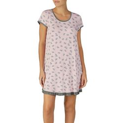 Layla Womens Puppy Love Short Sleeve Nightgown