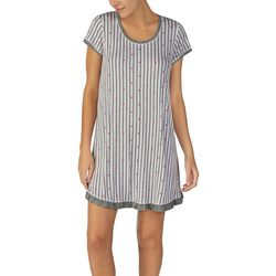 Layla Womens Stars & Stripes Short Sleeve Nightgown