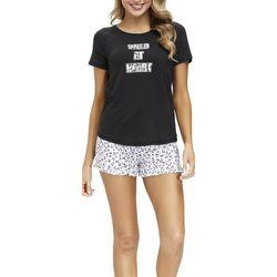 Jammies Sleepwear Wild At Heart Pajama Shorts Set