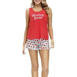 Jammies Sleepwear Strawberry Jammies Pajama Shorts Set