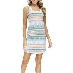 JLA HOME Womens Sofia Striped Sleeveless Nightgown