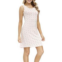 Womens Foulard Print Sleeveless Nightgown