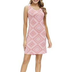Ink + Ivy Womens Scarf Print Sleeveless Nightgown