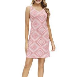 Womens Scarf Print Sleeveless Nightgown