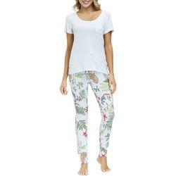 JLA Home Womens Jungle Print Jogger Legging Pajama Set