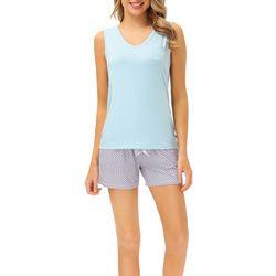 Echo Womens 2-Pc. Print Pajama Shorts & V-Neck Tank Set