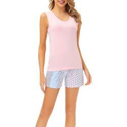 Echo Womens 2-Pc. Boho Print Pajama Shorts & V-Neck Tank Set