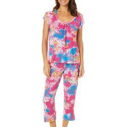 Catherine Malandrino Womens Floral Palm Pajama Set