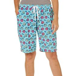 Rene Rofe Womens Seashell Print Terry Pajama Shorts