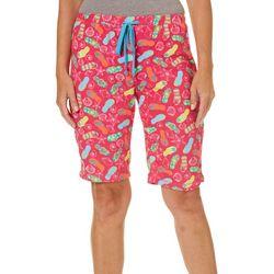 Rene Rofe Womens Fun Flip Flops Terry Pajama Shorts