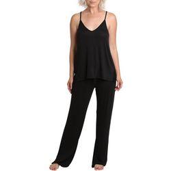 Catherine Malandrino Womens Solid 2-Peice Pajama Set