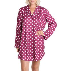 Caribbean Joe Polka Dot Night Shirt