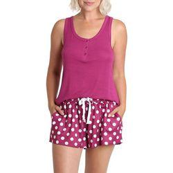 Womens Tropical Floral Print Pajama Shorts Set