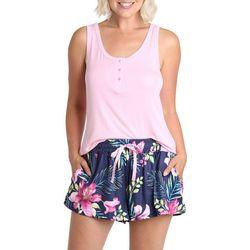 Caribbean Joe Womens Polka Dot Print Pajama Pants Set