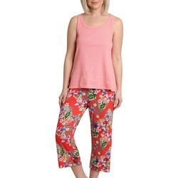 Womens Sleeveless Tropical Pajama Set