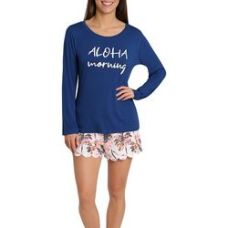 Caribbean Joe Womens Aloha Morning Pajama Short Set