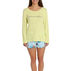 Caribbean Joe Womens Morning Sunshine Pajama Short Set