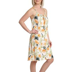 Caribbean Joe Womens Tropical Keyhole Chemise Nightgown