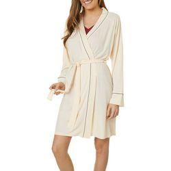 Tahari Womens Rib Knit Kimono Robe