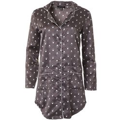 Nanette Juniors Satin Polka Dot Night Shirt